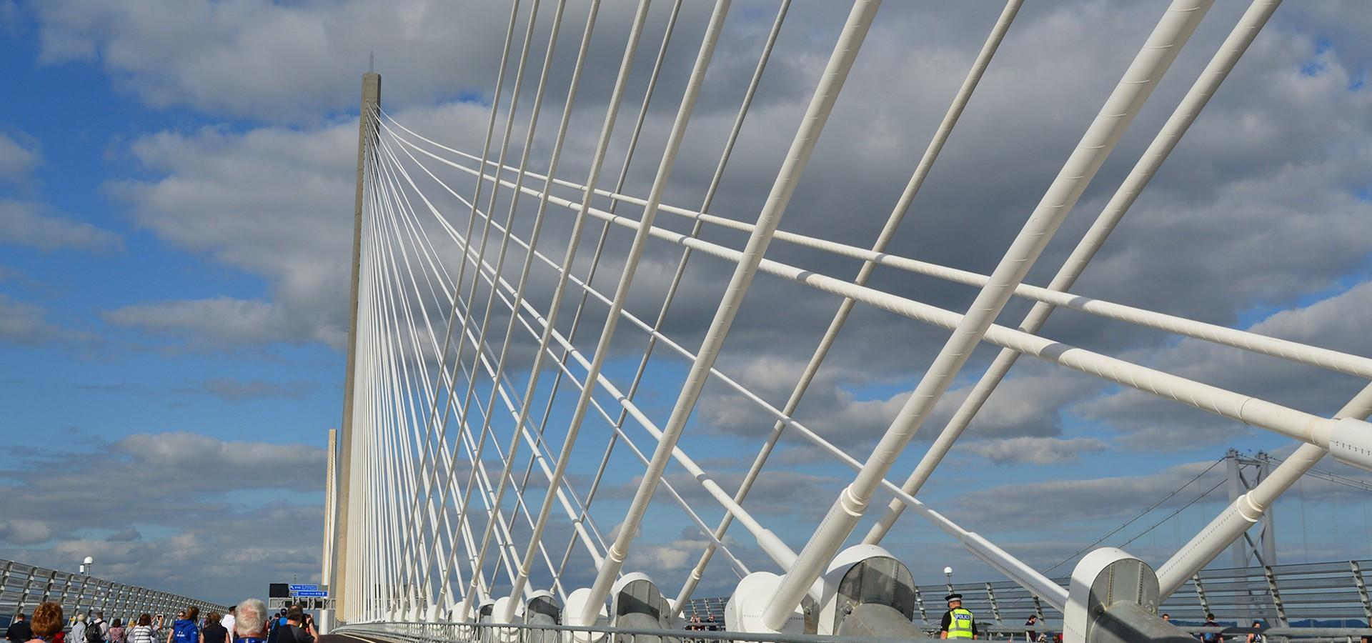 A modern city centre bridge