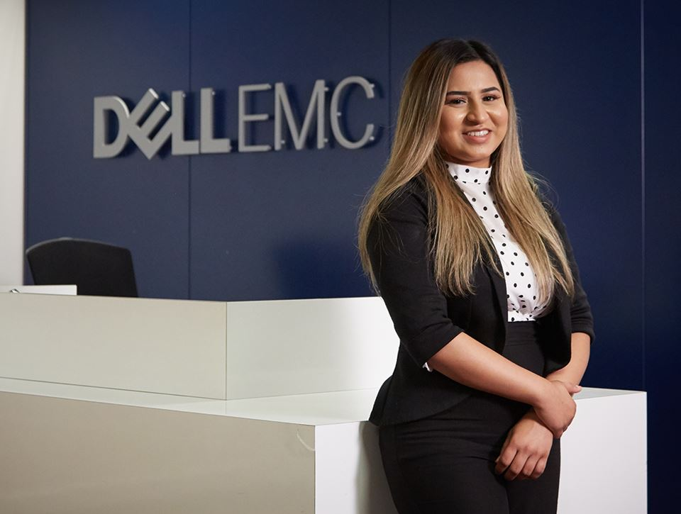 Woman in Dell office